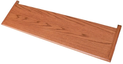 Double Miter Hardwood Stair Treads 1 1 16 In Thick X 10 1 2 | Thick Wood Stair Treads | Solid Weathered | Baby Blue White Stair | Custom | Prefinished | Glue Laminated