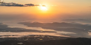 Photo of Dawn over the Kyle of Tongue