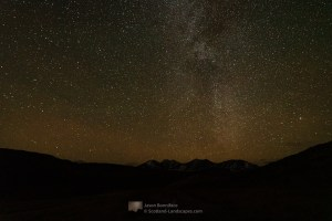 The Milky Way above An Teallach