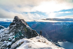 Me, Jason Bonniface, on the south ridge of Sgurr Fiona