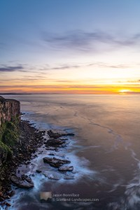 Restless Sea at Sunset from Dunnet Head, Caithness