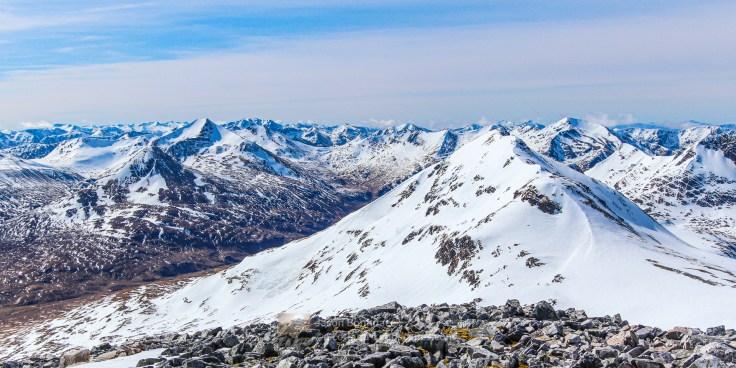 Snow Peaks Above Glen Nevis, Lochaber