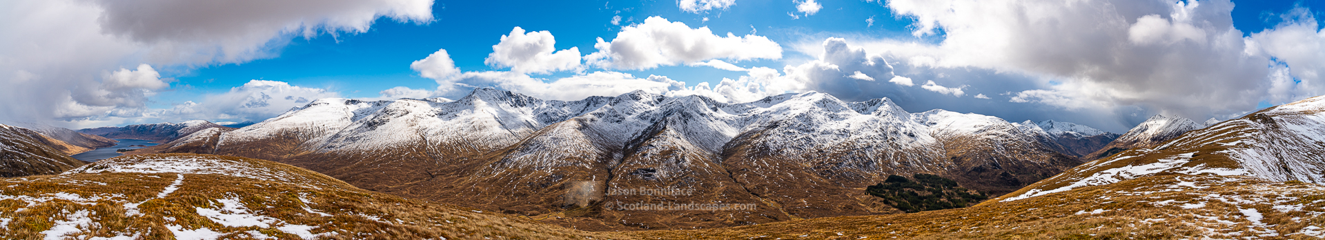 The South Glen Shiel Ridge - A Panorama, Lochalsh & Knoydart