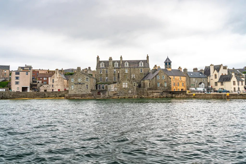 The Queen's Hotel and Tolbooth Area, Lerwick, Shetland