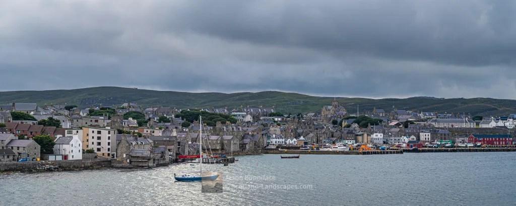 Lerwick Centre from the Departing Aberdeen Ferry, Shetland