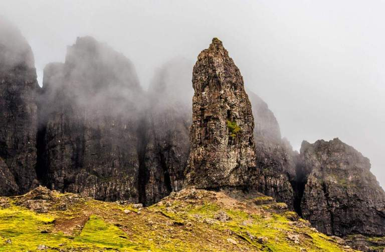 Isola di Skye i pinnacoli dell'Old Man of Storr
