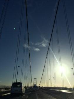 Bridge going into Edinburgh