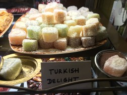 Bobby and I had an incredible lunch at a turkish restaurant on the Royal Mile. I took this picture for my brother, Turkish Delight is real, Micah!