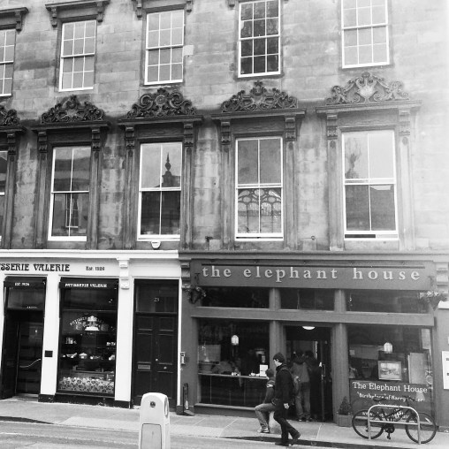 Had a bit of time to kill in Edinburgh and passed the Elephant House, one of the places where JK Rowling penned the Harry Potter books