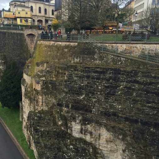 Here is a good view of the Bock, the rock edge that the Casemates were built.