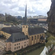 one of many lovely churches in Luxembourg