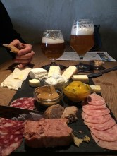 We ate an incredible Charcuterie Platter for lunch. And of course drank local craft beers.