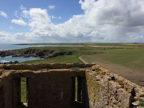 Fuzzy photo- but this is out of the top of the tower- such a beautiful view of the top of the ruin and country land all around.