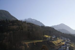 View of the mountains from the village