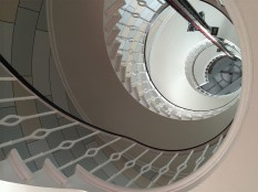 The spiral staircase of the Main Light.
