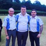Triples Winners - Duncan Hogg, Gordon Pryde & Craig Cochrane of EL-Coop