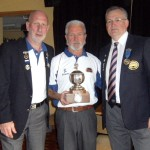 Gordon Taylor with Ian Paterson & the Championship Trophy & President , Richard Dimelow