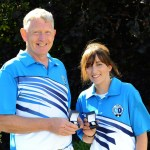 Bowls Scotland Mixed Pairs Runners-Up - Tranent BC (left to right) John McCrorie & Dee Hoggan