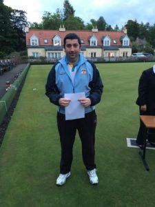 Bowls Scotland District Singles Winner - Derek Oliver (Cockenzie & Port Seton)