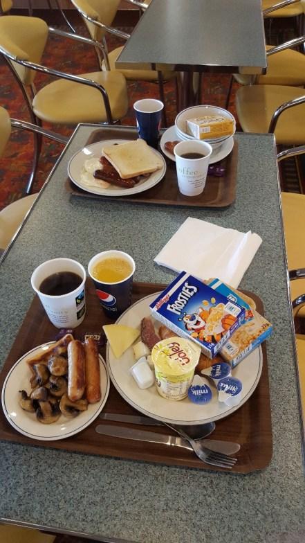 Breakfast aboard HV Hamnavoe
