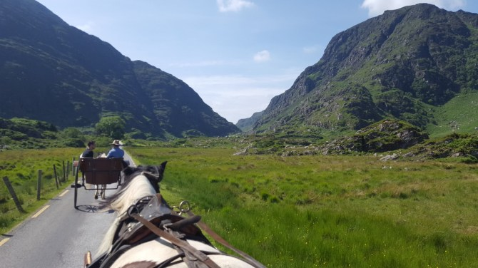 The Gap of Dunloe Jaunting Cars