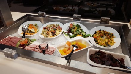 Food available in the new lounge
