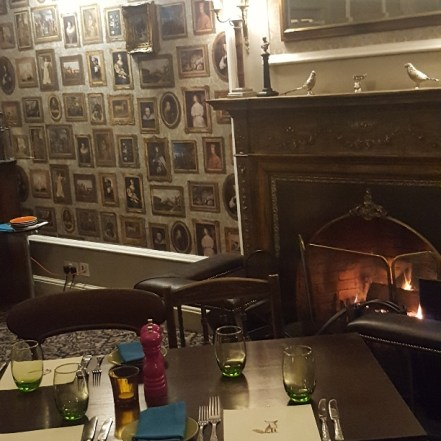 Fireside dining at Banchory Lodge Hotel