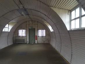 Inside a Nissen hut