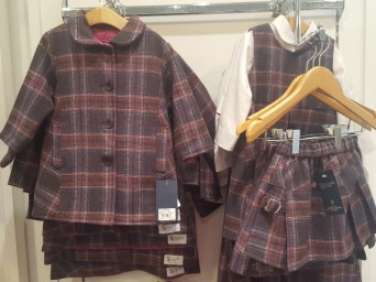 Tots' Tartan togs at Johnston's of Elgin