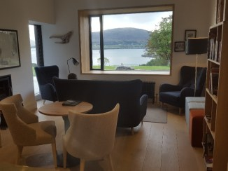 Guest Lounge with Honesty Bar at Raasay Distillery