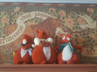 Playful squirrels in the Family Room