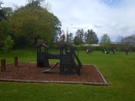 A play area at Threave Garden