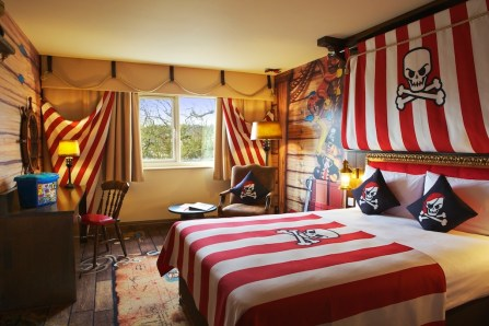 Pirate hotel rooms at Legoland Windsor