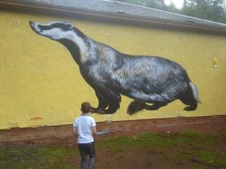 Meeting a badger along the way