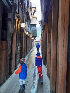 Exploring the alleys of the Bryggen