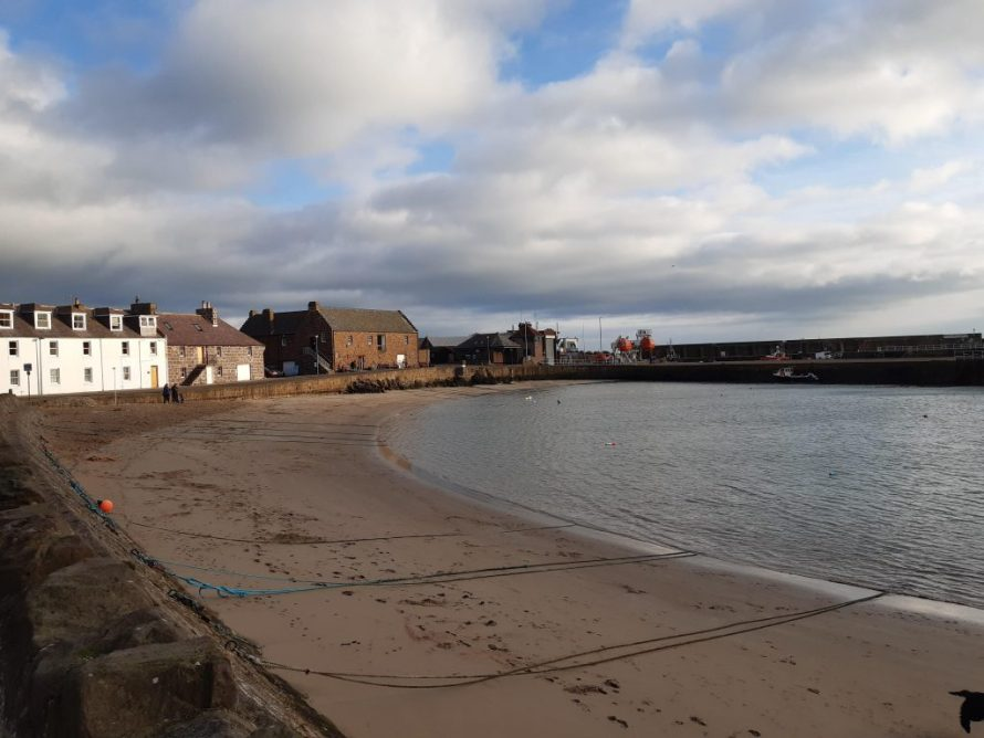 Walk Stonehaven to Dunnottar Castle Ruins in a time of Social Distancing