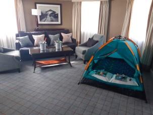 In room camping at Dalmahoy
