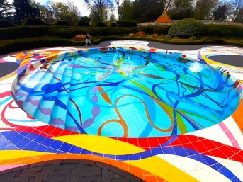 Where to find a psychedelic swimming pool.