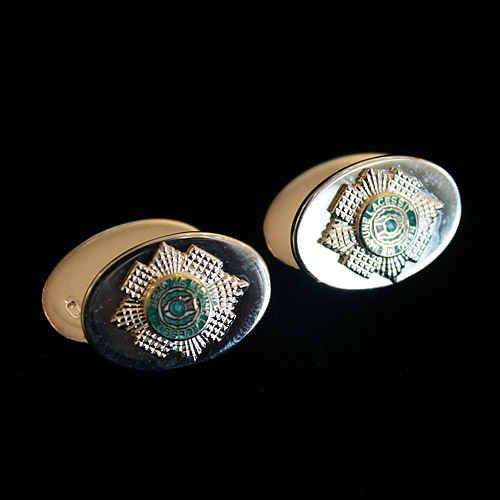 Silver Cufflinks with raised Scots Guards Crest