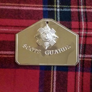 Replica Brass Bed Plate Scots Guards