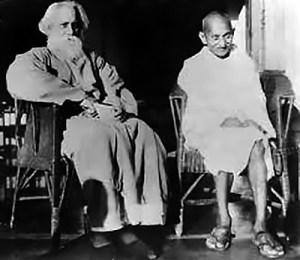 Rabindranath Tagore with Mahatma Gandhi