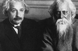 Albert Einstein and Rabindranath Tagore