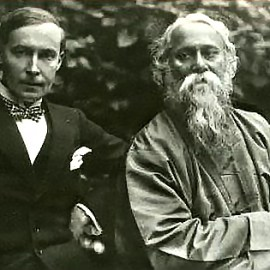 Rabindrnath Tagore (right) with his German publisher Kurt Wolff (left) in 1921. Image credit: Martin Kaempchen/ Visva-Bharati University