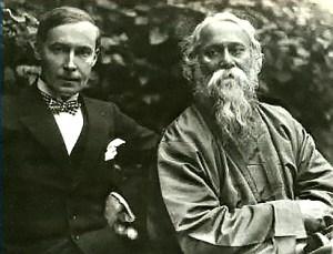 Rabindrnath Tagore (right) with his German publisher Kurt Wolff (left) in 1921.  Image credit: Martin Kaempchen/ Visva-Bharati University
