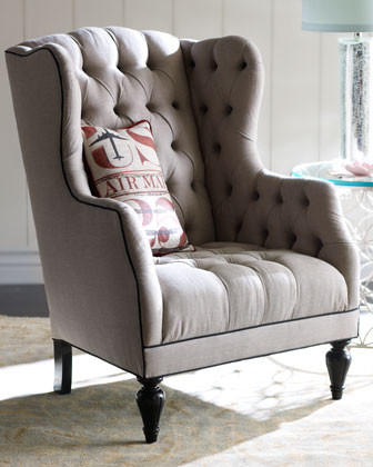 Tufted Winged Armchair