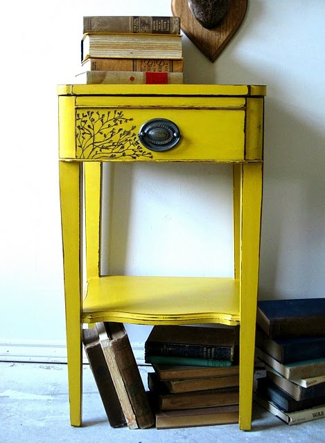 Mustard yellow shelf