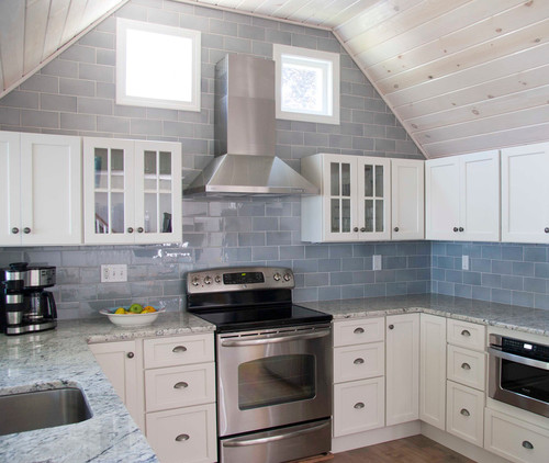 Light Blue Kitchen Tiles
