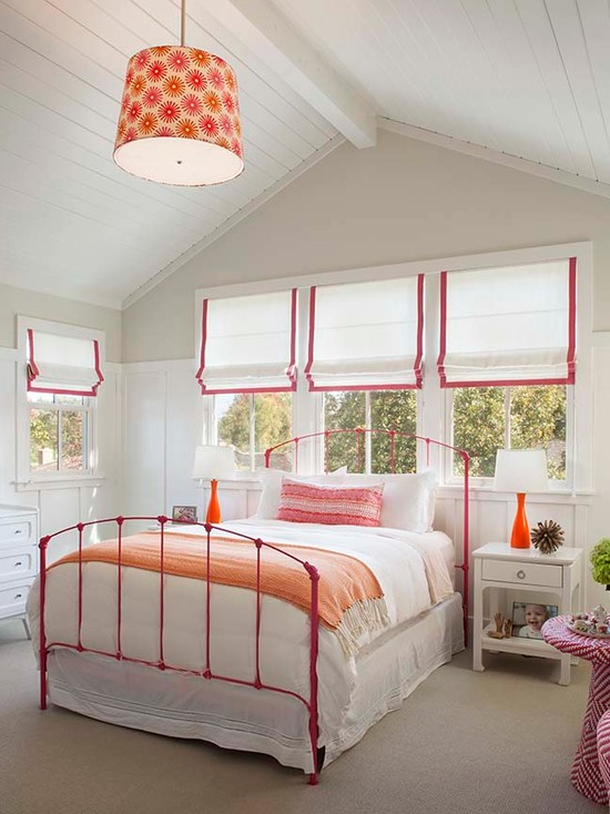 Pink Iron Bed