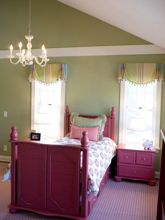 Pink Wooden Bed