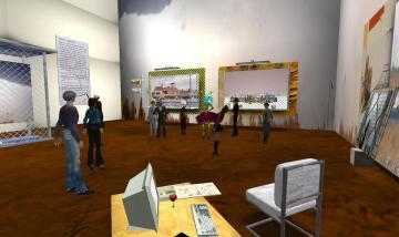 Henry's Memory opening reception in Dyer's studio